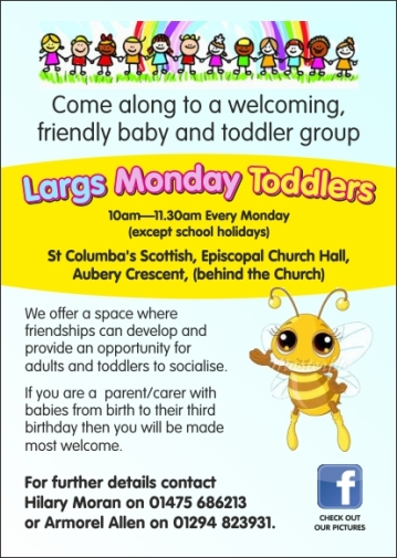 Largs Monday Toddlers leaflet