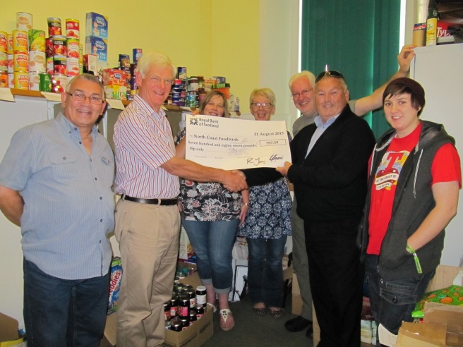 Donation to North Coast Foodbank