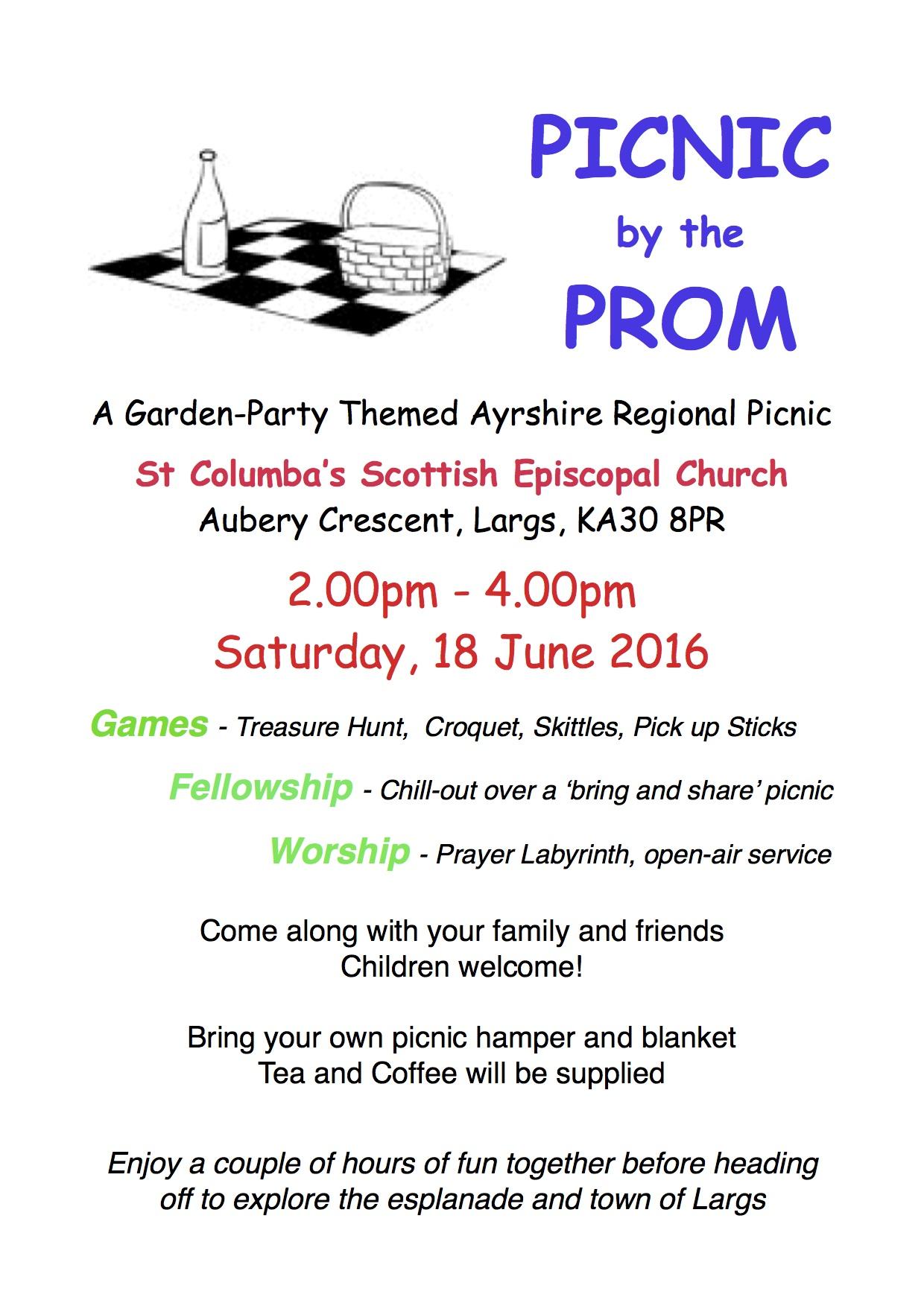 picnic poster PDF 2016   St Columba's Scottish Episcopal Church Largs