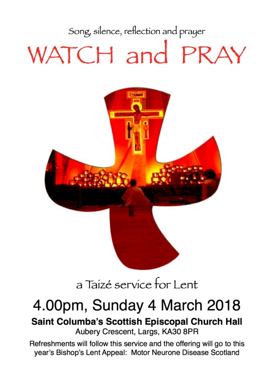 Taize Poster 'Watch and Pray' Lent 2018
