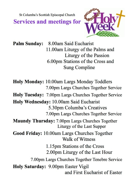 Holy Week Poster 2018