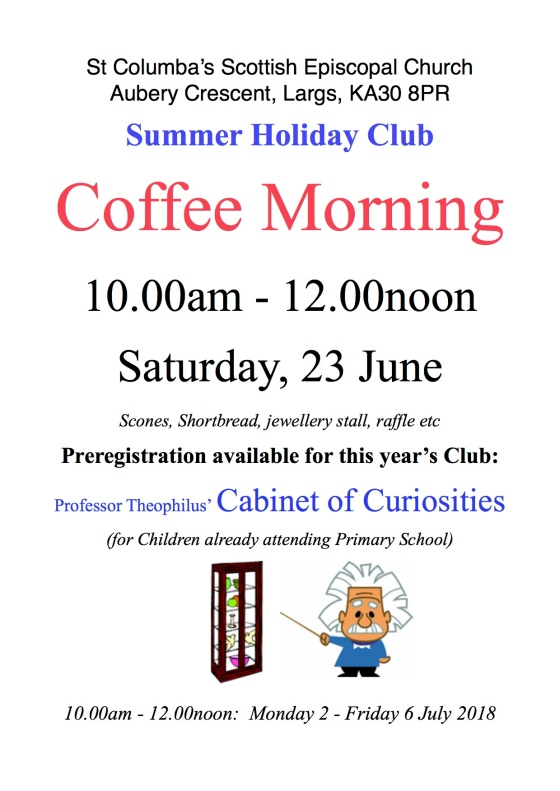 Coffee Morning Poster 2018