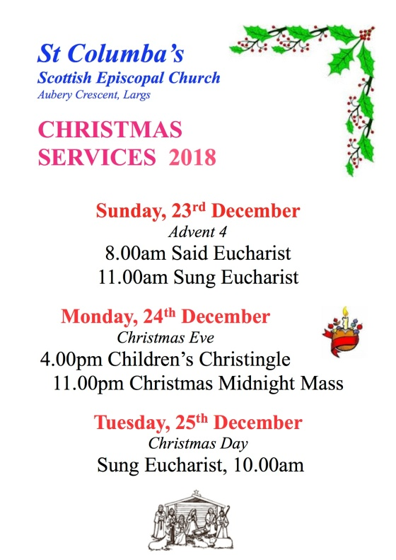Christmas Services Poster 2018