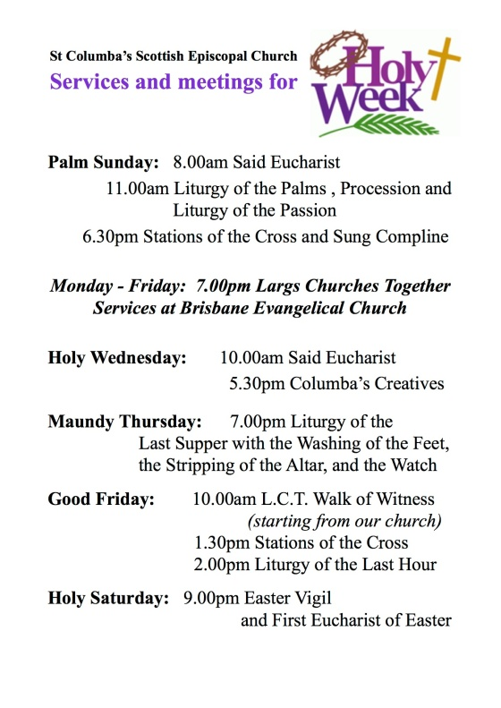 Holy Week Poster 2019