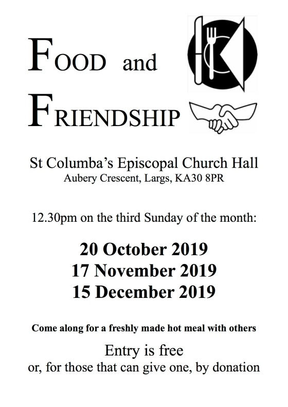 Food and Friendship poster Oct-Dec 2019